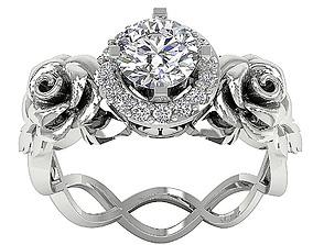 Luxury Diomand Ring 3d Model print brilliant