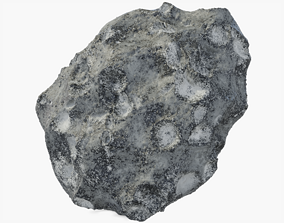 Asteroid 3D asset low-poly