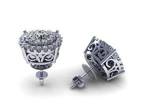 3D printable model Hallow Earring Round Diamond