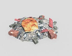 3D asset game-ready Debris Pile