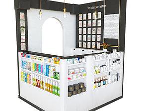 beauty salon reception 3D model