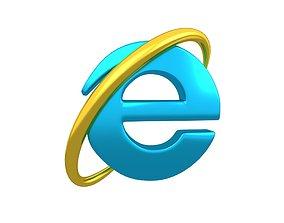 3D asset Internet Explorer Logo v1 007