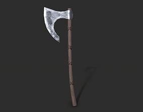 3D model realtime Viking axe