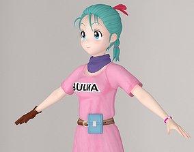 T pose nonrigged model of Bulma anime girl