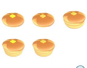 3D asset Pancake v2 Pack 01