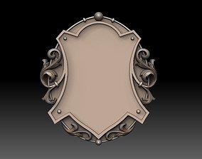 3D printable model modern shield