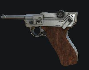 Luger PBR 3D asset