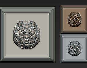 logotype 3D print model Guardian Lions