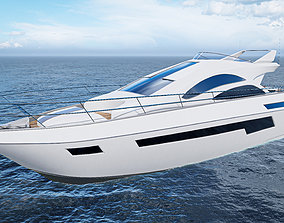 Yacht 3D asset realtime PBR