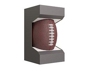 3D American Football Ball in Box