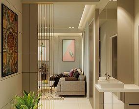 Living Room Interior Scene for Render 3D model