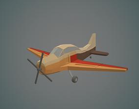3D asset Airplane cartoon - 03