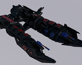 Spaceship spacesuit 3D asset game-ready