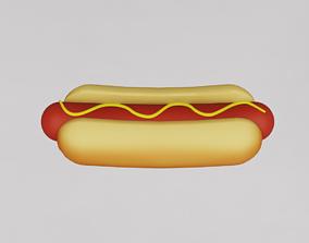 Cartoon hotdog 3D model
