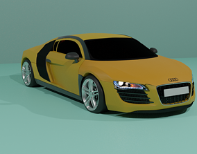 fast AUDI R8 3D printable model