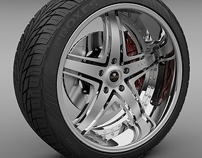 3D Savini Forged SV-8S Wheel and Tire