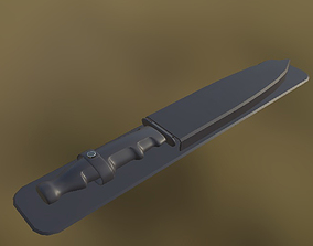 Army Knife 02 PBR 3D asset