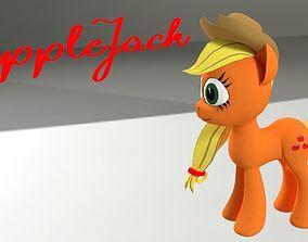 VR / AR ready My Little Pony AppleJack 3D Model