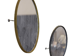 3D model Wall Mirror Oval Shape with Crack and PBR 1