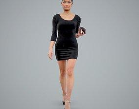 3D model Classy Elegant Woman with Black Heels