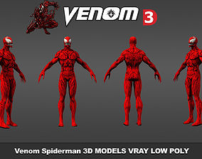 Venom Spiderman 3D Models Low poly Real Time VR / AR ready