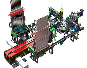USB assembly line equipment 3D
