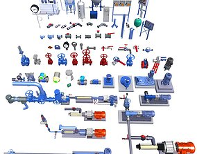 3D model Collection of Machinery Parts