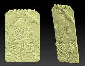 Pendant of lucky fish 3D print model