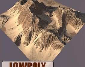 Lowpoly Mountain valley 3D model VR / AR ready