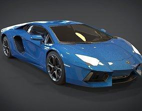 3D asset Lamborghini Aventador