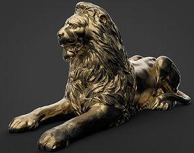 leon Stone Lion Sculpture 3d model