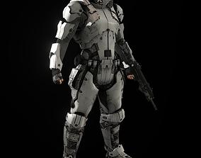 ciber suit 3D asset