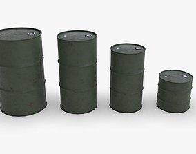 Army chemical barrels 3D asset