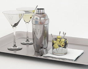 3D model Cocktail with shaker