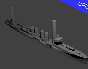 3D print model US Sampson Class Destroyer