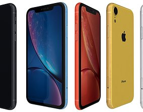 coral Apple iPhone Xr All Colors 3D model