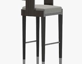 Grey Leather Stool 3D model
