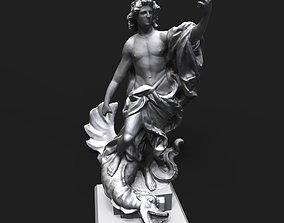 3D print model Apollo slaying the Python