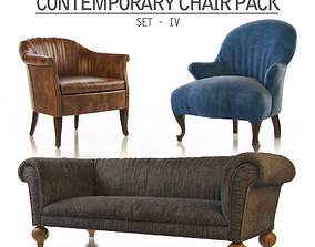 Contemporary Chair Pack - Seat IV 3D model