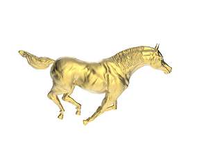 Arabic Horse in galloping position 3D print model
