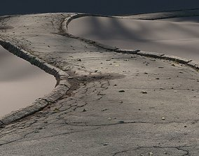 3D Cracked asphalt path