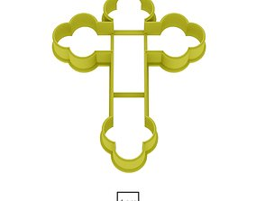 Cross cookie cutter for professional 3D printable model