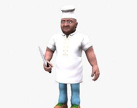 3D asset Cartoon Chef