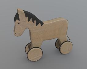 3D asset Horse on Wheels