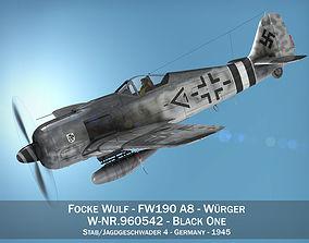 butcher 3D model Focke Wulf - FW190 A8 - 960542