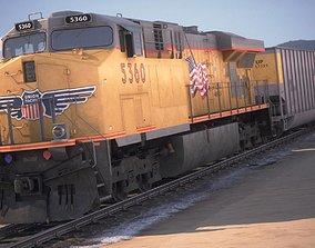 3D Modern Union Pacific Train