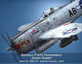 3D model Republic P-47 Thunderbolt - Daddy Rabbit