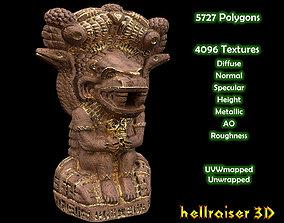 Mayan Statue Golden - Textured 3D model