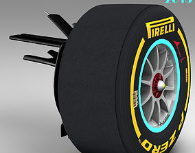 Mercedes W06 front suspension 3D model