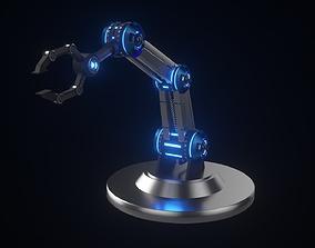 3D model Futuristic Industrial Factory Hand Robot
